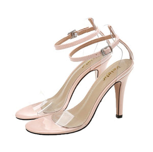 Petite Size Clear Strap Heeled Sandals SS290
