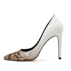 Petite Size Feet Heels US 1 Los Angeles LA-IRISIA BEIGE+WHITE