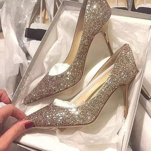Women Glitter Bling Dress Pumps US3(eu33) Sale