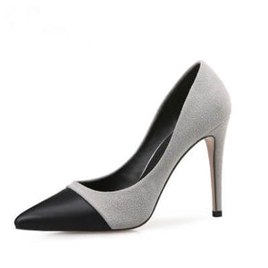 Petite Size Lady Heels Evening Shoes USA 1-FERNE GREY