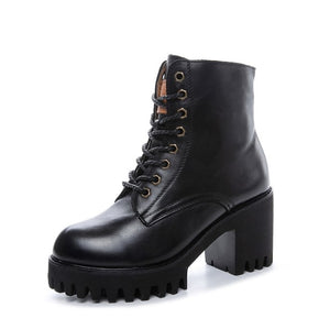 Petite Size Leather Martin Boots For Women AP180