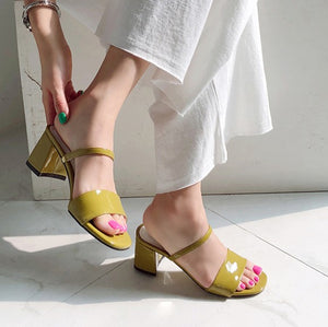Petite Feet Slip On Block Heel Sandals SS381