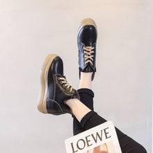 Petite Thick Sole Height Increased Leather Sneakers AP205