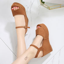 Petite Peep Wedge Shoes For Small Feet Ladies SS255