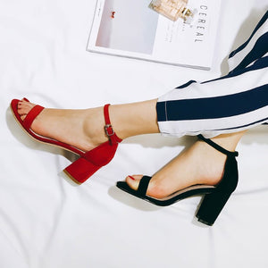 Petite Feet Block Heel Ankle Strap Open Toe Summer Sandals SS29