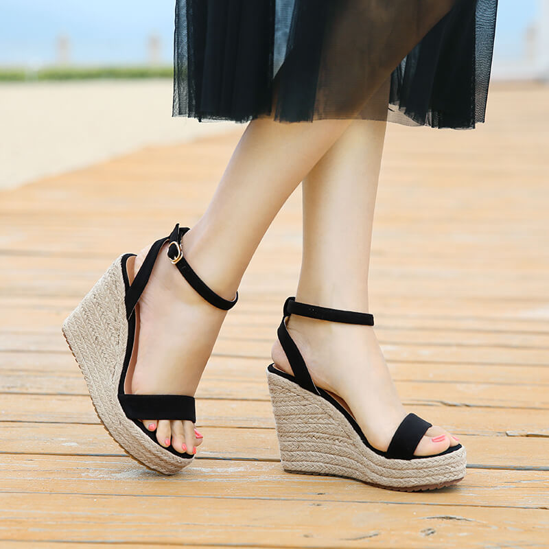 97f2f0a8ae Petite Womens Wedge Heel Platform Strap Sandals Small Size 1,2,3,4 –  AstarShoes