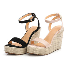 Petite Womens Wedge Heel Platform Strap Sandals Small Size 3