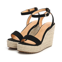 Petite Womens Wedge Heel Platform Strap Sandals Small Size 4