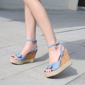 Platform Wedge Sandals For Small Feet BS89
