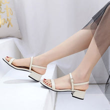 Small Size Block Low Heel Sandals BS301