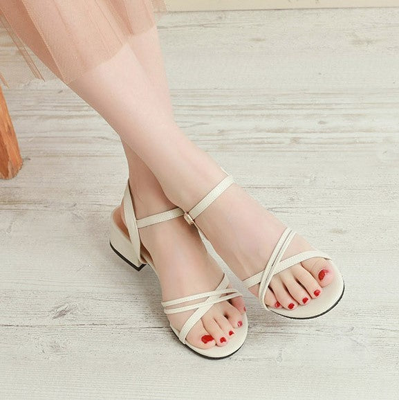 Small Size Cross Strap Sandals BS302