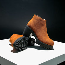 Suede Leather Booties For Petite Feet AP106
