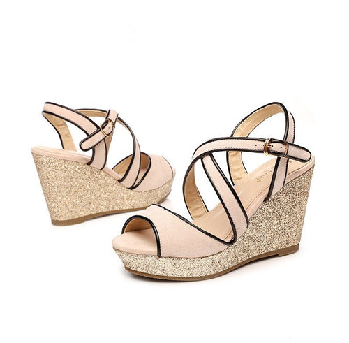 Small Size Platform Wedge Sandals For Women SS361