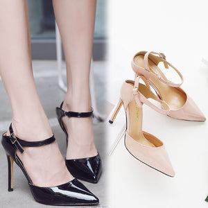Slingback Patent Heels For Small Feet BS318