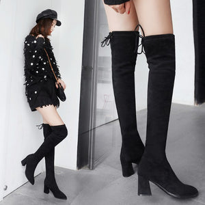 Small Feet Ladies Knee High Boots BS398