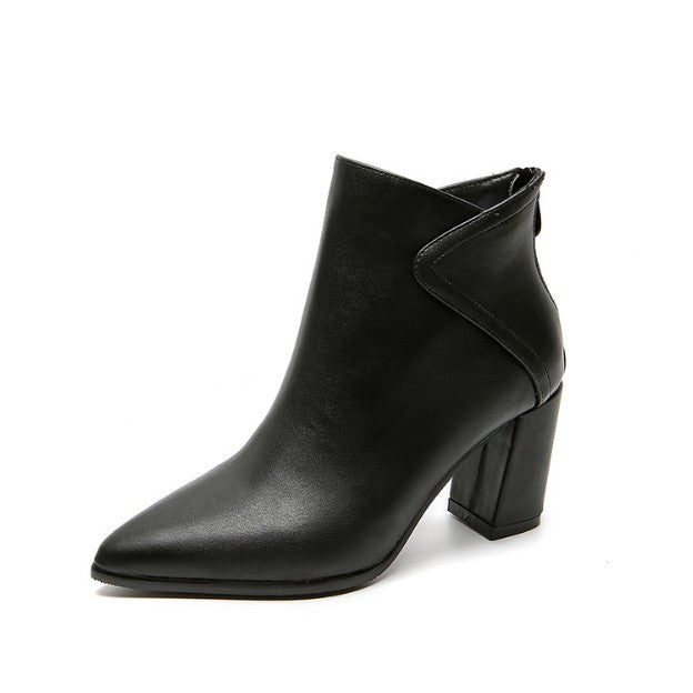 Small Feet Ladies Pointy Heeled Boots AP227