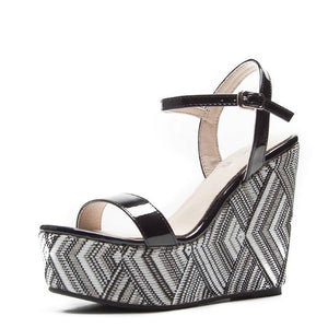 Small Feet Platform High Heel Wedge Sandals BS170