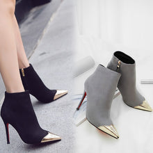 Small Feet Pointy Toe Heeled Ankle Boots DS118