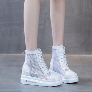 Small Feet Thicksole Lace Mesh Shoes DS218