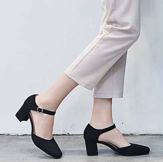 Small Size Block Heel Shoes For Adults BS326