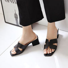 Small Size Block Heel Open Toe Sandals BS193