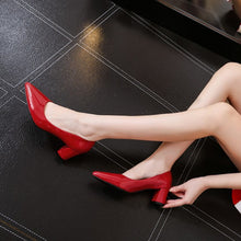 Small Size Block Heel Pump Shoes BS81