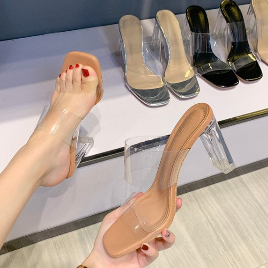 Small Size Clear High Heeled Sandals BS160
