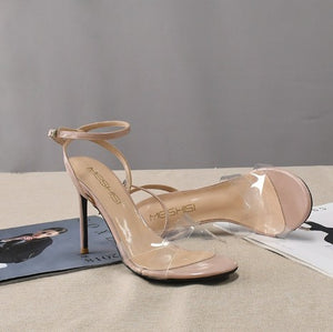 Small Size Ladies Clear Strap Sandals BS252