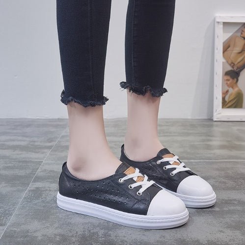 Small Size Leather Fashion Sneakers DS18