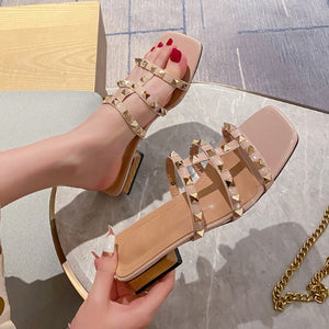 Small Size Open Toe Studded Sandals BS230