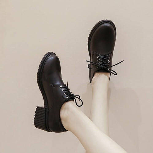 Small Size Leather Oxfords For Women BS392