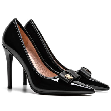 Small Size Patent Leather Heels For Ladies DS139