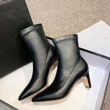 Small Size Pointy Slip On Boots BS395