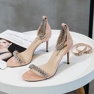 Small Size Rhinestone Shoes For Ladies BS310