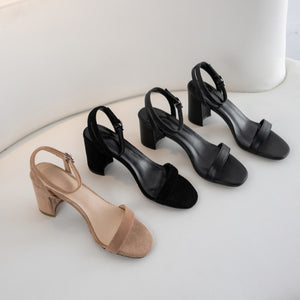 Small Size Block Heel Shoes For Ladies BS327