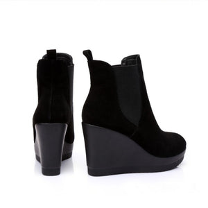 Small Size Wedge Boots For Women BS393