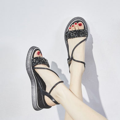 Small Size Wedge Heel Open Toe Sandals BS211