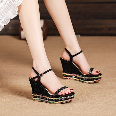 Small Size Wedge Sandals For Women DS219