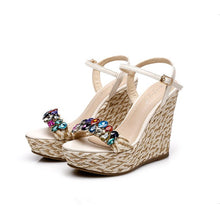 Small Feet Girls Rhinestone Wedge Sandals SS257
