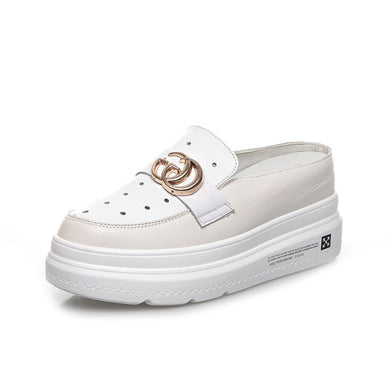 Small Feet Girls Slip On Height Increase Sneakers SS265