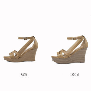 Small Feet Ladies Strap Wedge Sandals SS78