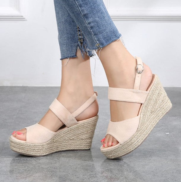2365c0e845a Small Feet Ladies Summer Peep Wedge Sandals SS118 - AstarShoes