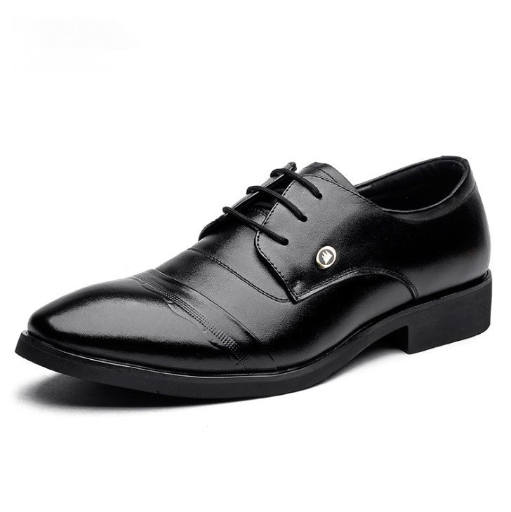 Small Feet Men's Lace Up Leather Dress Shoes MS51