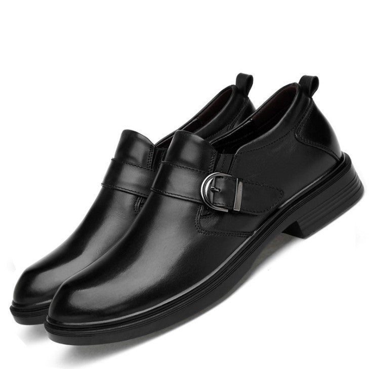 Small Feet Men's Strap Leather Dress Shoes MS22