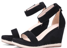 Small Feet Wedge Heel Platform Sandals With Ankle Strap US size 4