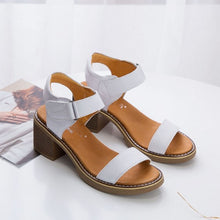Small Feet Block Heel Leather Sandals BS61