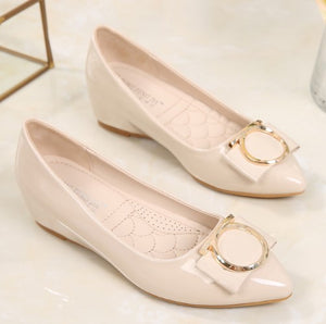 US1.5(eu31) Beige Low Wedge Heels Sale