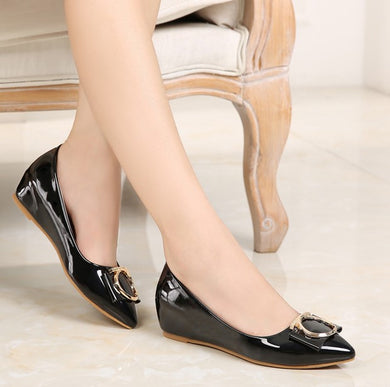 US1.5(eu31) Black Low Wedge Heels Sale