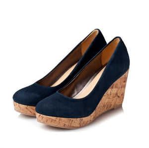 Small Size Suede Wedge Heels AP25