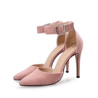 Small Size Ankle Strap Dress Sandals For Women-Carrier PINK